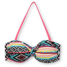 Malibu Dream Head Games Tribal Twist Bandeau Bikini Top via Polyvore