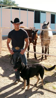 Name: Caleb Age: 19 About: Loves to rein and cow rope, he has two horses and a dog, Hotshot (chestnut) Nena ( Grey), Hotshot does reining and cow roping but Nena only does reining, and his dog Clyde, she fallows Caleb every where! Has no girlfriend