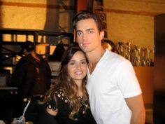 Posted by @jeffeastin on Twitter White Collar Archive: On set with Neal  Alex (Gloria Votsis) shooting the finale