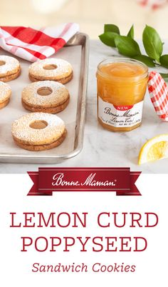 Fun and easy to make, these Bonne Maman Lemon Curd Poppyseed Butter Cookies are the perfect balance of zesty, lemon goodness and buttery cookie dough. with a twist. Try this recipe right in time for all of your holiday celebrations! Buttery Cookies, Sandwich Cookies, Lemon Curd, Holiday Baking, Cookie Dough, Foodies, Celebrations, Favorite Things, Shots