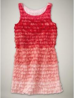 ombre ruffled tulle dress
