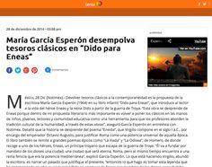 María García Esperón: Dido para Eneas en Terra