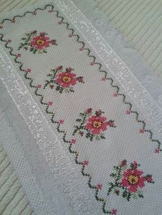 The most beautiful cross-stitch pattern - Knitting, Crochet Love Cross Stitch Letters, Just Cross Stitch, Cross Stitch Borders, Cross Stitch Samplers, Modern Cross Stitch, Cross Stitch Flowers, Cross Stitch Designs, Cross Stitching, Cross Stitch Embroidery