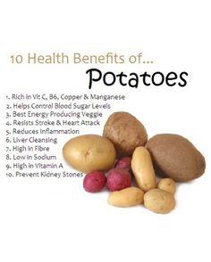 10 Health Benefits of Potatoes. by ZaraFee 10 Health Benefits of Potatoes. by ZaraFee Potato Health Benefits, Fruit Benefits, Coconut Health Benefits, Potatoes Benefits, Benefits Of Vegetables, Vegetable Benefits, Sport Nutrition, Health And Nutrition, Health Care