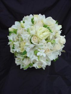 White and ivory spring bouquet. Budget option Pastel Bouquets