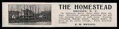 Deposit 1915 The Homestead Rooms Suites Cottages Delaware River Farm NY Photo AD