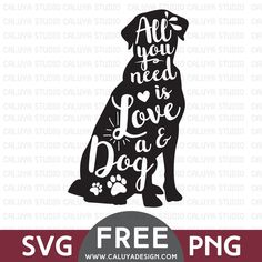 – Dog Lover SVG & PNG Free – I was going around Pinterest and saw this clipart, with turtle silhouette and white text over it. It was so cute, and thought it&#8…