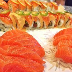All salmon errythangg    Location: Cha Cha Sushi. San Jose, CA
