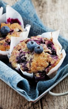 Blueberry Muffins - These muffins are extra large and yummy with the sugary-cinnamon crumb topping.