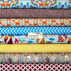 Nordic Woodland Bundle  8 Fabrics Total by StitchStashDiva on Etsy