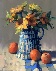 Sunny Bouquet - Sunny Bouquet by Trisha Adams, Oil, 20 x 16 - Abstract Flowers, Abstract Watercolor, Abstract Paintings, Oil Paintings, Landscape Paintings, Dynamic Painting, Selling Paintings, Modern Impressionism, Flower Oil