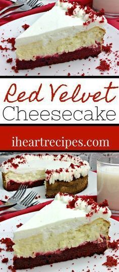 Easy Recipe for Red Velvet Cheesecake. This cheesecake recipe is just like the Cheesecake Factory's red velvet cheesecake! Who doesn't like the Cheesecake Factory's Red Velvet Cheesecake? I swear it's one of my favorite chees Red Velvet Cheese Cake Recipe, Red Velvet Cake Rezept, Recipe For Red Velvet Cheesecake, Pumpkin Cheesecake, The Cheesecake Factory, Yummy Treats, Sweet Treats, Yummy Food, Cheesecake Recipes