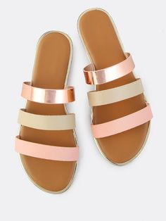Shop Triple Strap Slip On Sandals BLUSH online. SheIn offers Triple Strap Slip On Sandals BLUSH & more to fit your fashionable needs.