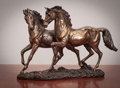 This is a beautiful solid cast bronze horse sculpture depicting a chase between two horses from Genesis Fine Arts of Ireland. Features - Size: tall x wide - Origin: Imported from Ireland Oil Pastel Colours, Horse Anatomy, Horses And Dogs, Draw On Photos, All The Pretty Horses, Horse Sculpture, Equine Art, Horse Art, Bar Interior