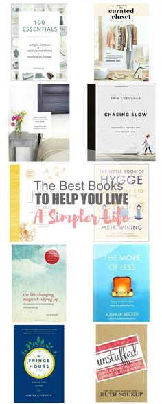 11 of the Best Books on Living a Simple Life Simple Living Minimalism Living with Intention Decluttering Reading Lists, Book Lists, Tidying Up Book, Hygge Book, Vie Simple, Happiness, Little Books, Big Books, Book Nooks
