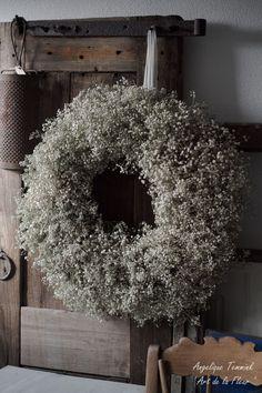 """Art de la Fleur """"Floral, Flowers, Angelique Temmink Waalboer, Wreath, Kra …- A … Floral Room, Deco Floral, Wreaths For Front Door, Door Wreaths, Christmas Wreaths, Christmas Decorations, Holiday Decor, Decoration Shabby, Wreaths And Garlands"""