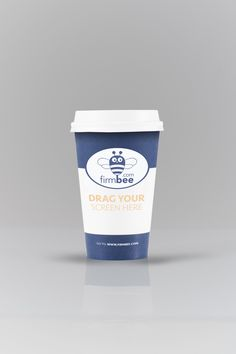 Blue cofee cup #business #PSD #cofee #cup #HDPSD #mockup