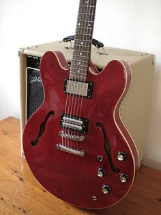 Modified '98 Epiphone Dot with RS Fralin PAF and GFS Lipstick humbuckers