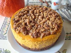 Pumpkin Walnut Cheesecake | Dýňový cheesecake s ořechovou pokrývkou - www.vune-vanilky.cz