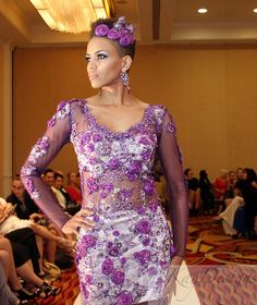 """TeKay Designs presented their couture Spring 2015 """"The Crown Collection"""" in Houston Fashion Week."""