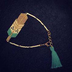 Copié collé de la jolie plume de @rose_moustache montée en bracelet  #miyuki…