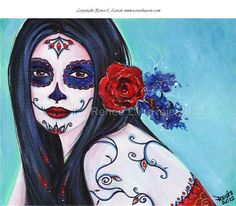 Leela day of the dead print  8x10 by Renee by TheArtOfReneeLLavoie, $14.00