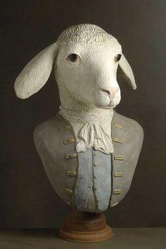 Mélanie Bourlon C/° Muses et Hommes - mouton (sculpture papier mâché)