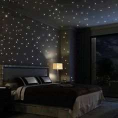If I didn't need pitch blackness when I sleep, I would love this. Would be cute for a kid's room!