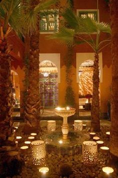 Candlelit courtyard at Riad Kaiss, Morocco. www.facebook.com/Morocco.Specialist