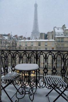 #snowy paris...