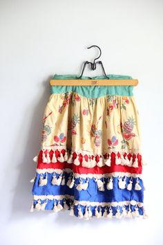 vintage costume skirt / handmade mid century clothing on Etsy, $49.00