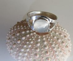 Handcrafted Moonstone Ring:  Sterling Silver by DixSterling