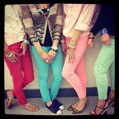 color jeans!