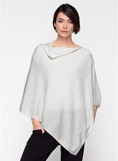 Eileen Fisher lightweight cashmere poncho