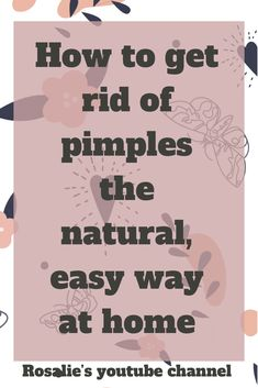 This is a simple, cost free method that helps get rid of pimples. Watch this short video. Pimples On Chin, Pimples On Forehead, How To Get Rid Of Pimples, Get Rid Of Blackheads, Acne Remedies, Natural Remedies, Pimple Solution, Acne Breakout, All Family