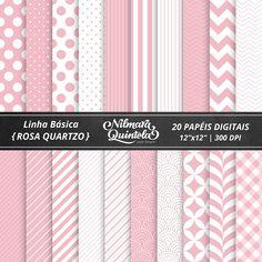 Basic Papers Kit – Rose Quartz – Nilmara Quintela Paper Designer