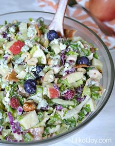 Harvest Chicken Chopped Salad with Creamy Honey Balsamic Dressing