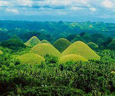 Chocolate Hills in Bohol, Phil.