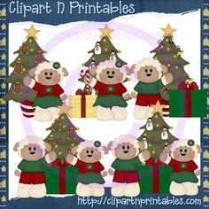 Christmas Sheep 2010- #Clipart #ResellableClipart #ResellerClipart #Christmas #Sheep #Gifts #Presents #ChristmasTree #Stars #Decorations #Ornaments #Gingerbread