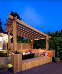 The Cedar Pergola from Leisure Time Products is a beautiful addition to your backyard or patio. This pergola will give your patio wonderful, shaded, natural bea Pergola Canopy, Outdoor Pergola, Backyard Pergola, Outdoor Spaces, Outdoor Living, Outdoor Fire, Outdoor Seating, Backyard Retreat, Pergola Lighting