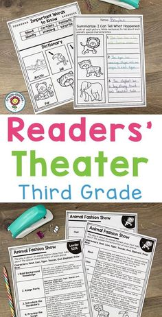 Readers' Theater Passages 3rd GRADE - Use this 132 page pack with your third graders to focus on Readers Theatre. You get a dictionary page, comprehension questions, writing prompts, and more. Great for literacy centers, stations, partner, work, shared reading, fluency groups, and more. Each passage has been professionally leveled by Lexile. You can trust the level, structure, and complexity! #ReadersTheatre #ReadersTheater #Reading #3rdGradeReading Shared Reading, Guided Reading, Reading Fluency, 3rd Grade Reading, Third Grade, 3rd Grade Classroom, Classroom Ideas, Lexile, Readers Theater