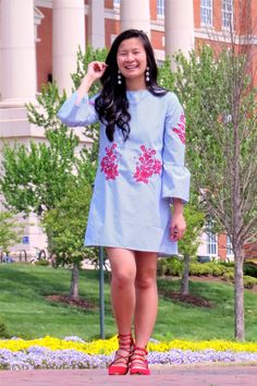 Styling a bell sleeve dress - BooHoo dress - outfit inspiration - spring fashion