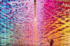 'Sense of Motion' by Emmanuelle Moureaux hosted inside the commercial shopping mall of Omotesando Spiral in Tokyo.