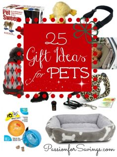 Sew Idea For Gifts 25 Gift Ideas for Pets! Perfect for New Pets or Birthday Gifts for Pets! Dog Birthday Presents, Dog Christmas Presents, Dog Birthday Gift, Dog Presents, Christmas Puppy, Christmas Stocking Stuffers, Christmas Animals, Christmas Cats, Christmas Time
