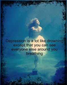 Depession doesn't always mean self harm it could mean faking a smile and crying yourself to sleep please see the signs