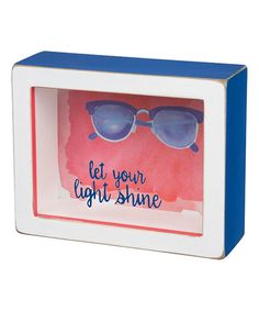 Love this 'Let Your Light Shine' Shadow Box Sign on #zulily! #zulilyfinds