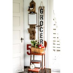 """<a href=""""http://www.funkyjunkinteriors.net/2015/05/reclaimed-wood-message-centre-and-nagging-grocery-sign.html"""" target=""""_blank""""><b>Funky Junk Interiors</b></a>…<b>How gorgeous is this Reclaimed Wood Message Centre and Grocery Sign! I know I would love to make one of these! It's perfect for that touch of Farmhouse Charm! Visit Donna over at Funky Junk Interiors and she will tell you how she did it!</b>"""