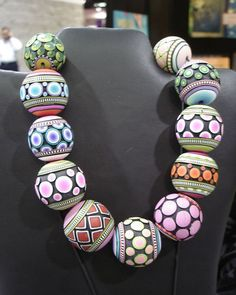 Donna Kato Polymer Clay Millefiori Necklace by Tales from the land of Pinto, via Flickr