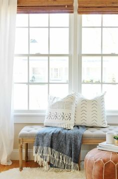 Mud cloth pillows are the new throw pillow trend that will be perfect in any room. But what if you can't find the perfect one? Try a DIY mud cloth style pillow project! City Farmhouse tried her hand at this DIY version, which involved white pillows, a sharpie and a paint swatch! So easy!