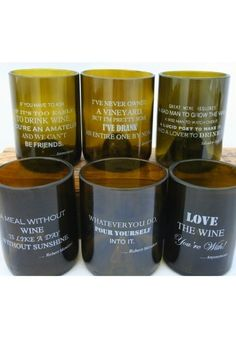 Love our Wine Quote Glasses? Here is the whole set of (6) hilariously, funny quotes for a perfect birthday, hostess with the mostest, anniversary, housewarming or holiday gift! One of each quote.